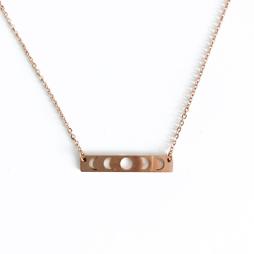 Phases of the Moon Moon Phase Necklace Gold Gold Moon Necklace for Women Moon Phases